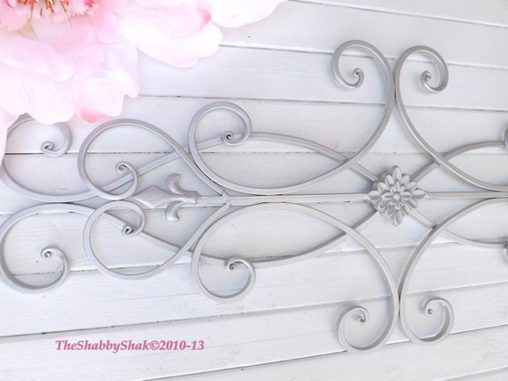 Wrought iron wall decor indoor outdoor cottage style wrought iron wall decor indoor outdoor cottage style fleur de lis shabby chic decor bedroom wall decor kitchen decor ppazfo