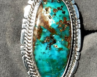 NATURAL ROYSTON TURQUOISE Ring   # 1154-tb