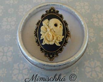 ring cameo mexican sugar skull
