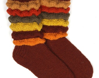 Hand knitted womens socks