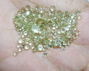 175 Pcs Lot Extremely Beautiful Natural Green Amethyst Faceted Round Shape Loose Gemstone Beads 6 - 3 MM