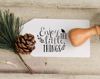 Enjoy the little Things Art stamp, perfect for cards, weddings and more