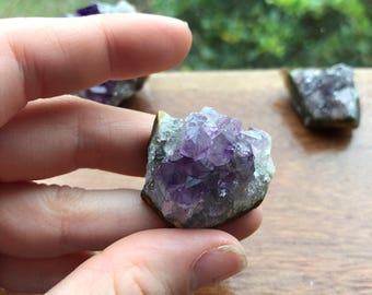 Amethyst cluster | small amethyst cluster |amethyst geode | crystal cluster | amethyst meditation stone | amethyst meditation stone
