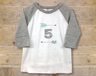 Fifth Birthday Shirt, Five Shirt, Fifth Birthday Outfit, 5th Birthday Shirt, Boy's Clothes, Boy's Shirt, Trendy Shirt, Birthday Gift, Cool