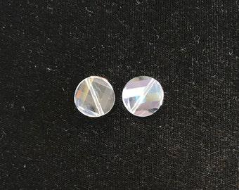 5621 Swarovski® 14mm Twist Bead - Crystal - 1 piece
