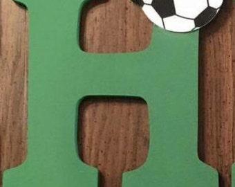 Soccer ball letters