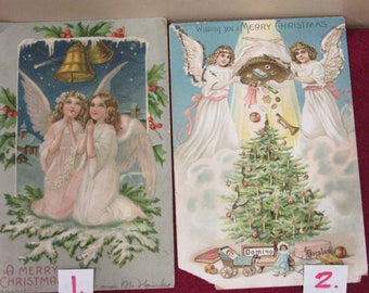Vintage Christmas Postcards Choice 1-5