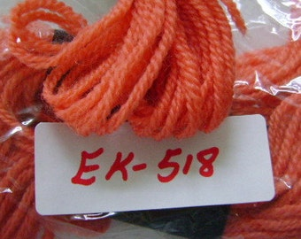 Yarn, Paragon, 100% Wool Crewel Needlepoint, Color #226 Salmon, 8.8 Yard Skeins