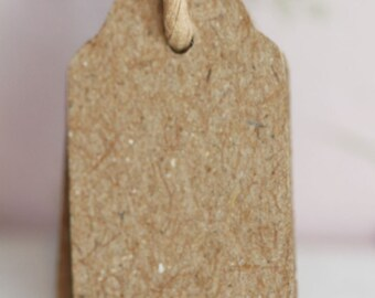 East Of India Vintage Style Handmade Brown Mini Tags