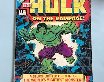 Vintage Oversize Marvel Treasury Edition Comic Book Incredible Hulk #5