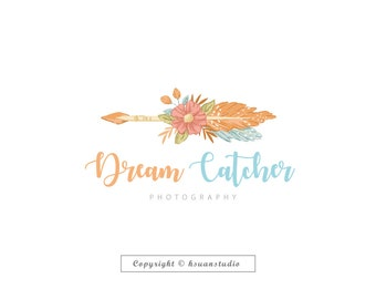 Dream Catcher Premade LOGO, Business Logo,Custom Logo, Blog Logo,Watermark