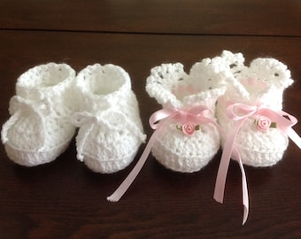 Baby Booties Newborn Girl and Boy  Crochet PATTERNS
