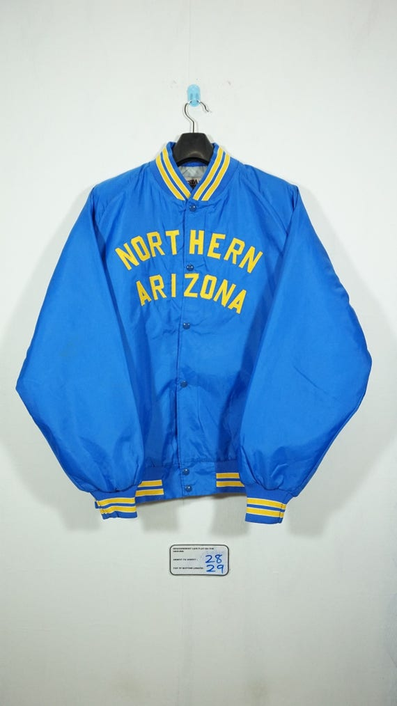 Vintage 90s Northern Arizona Satin Baseball Jacket Size XXlarge / Arizona Jacket / Satin Jacket / Starter Jacket
