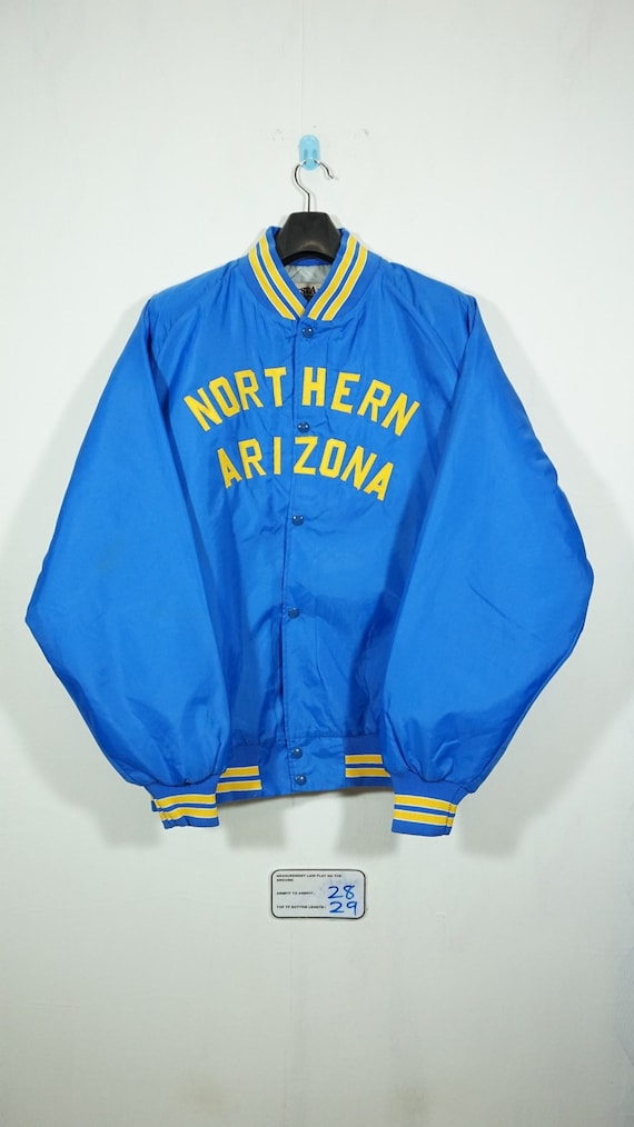 Vintage 90s Northern Arizona Satin Baseball Jacket Size XXlarge / Arizona Jacket / Satin Jacket / Starter Jacket PciII2aYlu