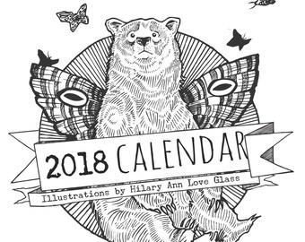 SALE 40%OFF!!! 2018 Calendar of Fantastical Creatures