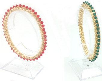 Beading4perfectionists:  Light Parade bracelet beading pattern tutorial PDF file