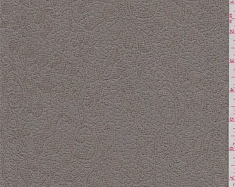 Pale Taupe Floral Matelasse, Fabric By The Yard