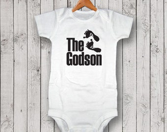 The Godson One Piece Bodysuit, Creeper, T-Shirt - Baby Gift, Baby Shower Gift, Christening Gift