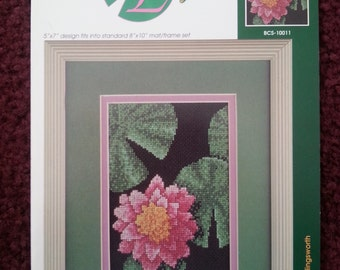 Water Lily cross-stitch booklet