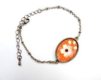 Bracelet - So long (papier wash japonais-rouge)