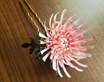 Chrysanthemum hair stick - upward petals