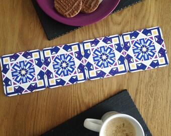 Morocco Coaster / Islamic Pattern / Drink Coasters / Mosaic / Geometric Print / Tile Coasters / Moroccan Decor / Style / Theme / Gift