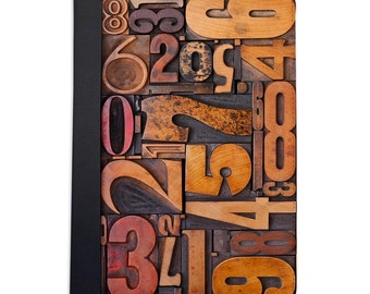 Vintage Letterpress Numbers Folio Case For The iPad Mini 1,2,3 and 4