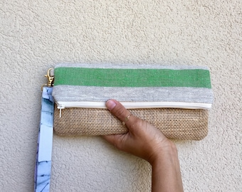 Fold over clutch, burlap clutch, boho clutch, bridesmaid gift, summer handbag, summer clutch, boho clutch purse, boho purse, summer purse