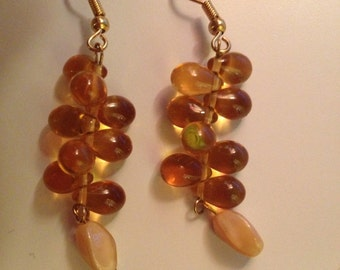 Glass Bead Dangle Earrings