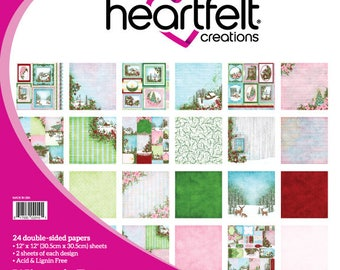 "Heartfelt Creations Winter's Eve Paper Collection 12"" x 12"" HCDP1-281"
