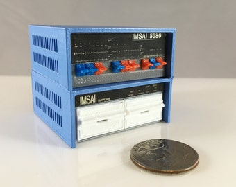 Mini IMSAI 8080 with IMSAI FDC-2 floppy disk drives - 3D printed!