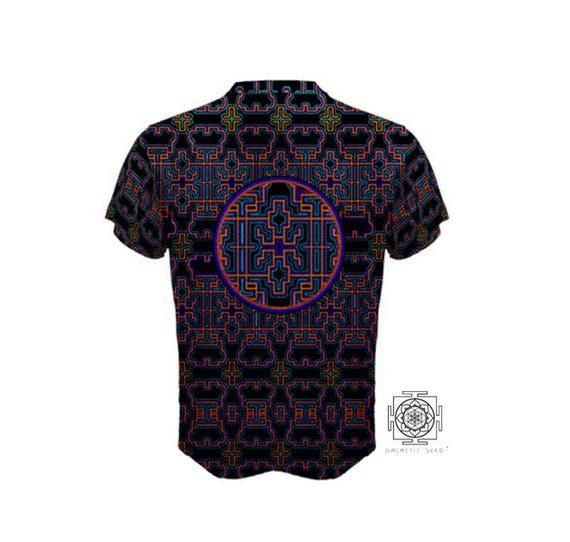Rave t-shirt men, All over print shirt, Festival shirt, No streaks no white folds, cut and sewn Shirt for boyfriend Dmt shirt 420 Psy shirt