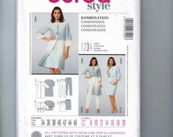 Misses Sewing Pattern Burda 7490 Coordinates Dress Skirt Pants Top Jacket Size 8 10 12 14 16 18 UNCUT