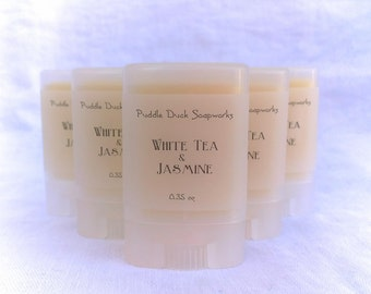 White Tea & Jasmine Solid Perfume - Natural, long lasting personal fragrance