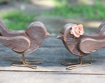 Love Bird Cake Topper Handmade Rustic Shabby Chic Weddings