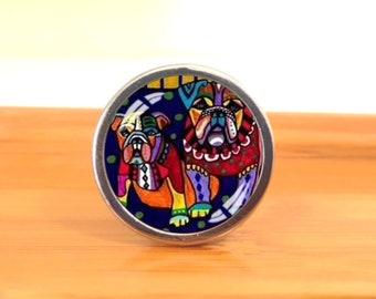 DOG Drawer Knobs/ Handmade Vintage Bronze Dresser Knobs Cabinet Dresser  Knobs Pull / Dresser Pull / Cabinet Knobs / Furniture Knobs