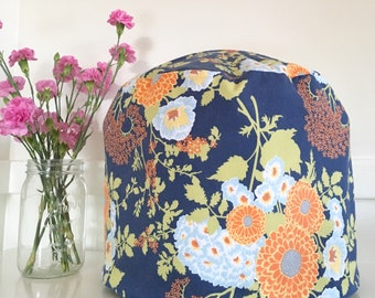 Instant Pot Cover - Reversible - Blue Floral and Green Dots