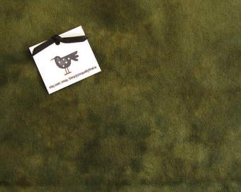 Felted Wool Fabric - Hand Dyed Wool Fabric in Sage Green Solid Fat Quarter - Applique or Rug Hooking Wool