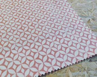 Korla Fabric- Orange Fabric- Coral- Curtain Fabric- Furnishing Fabric - Modern - Designer Fabric- Coral red- Eastern style- Upholstery