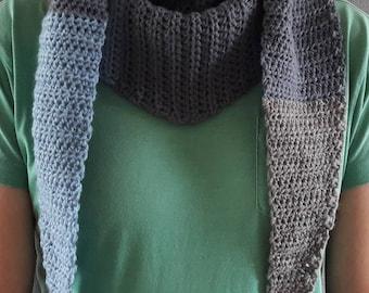 Crocheted modern scarf