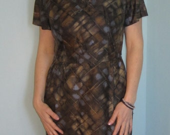 1950s Wiggle Dress / Bombshell / Siren. Sz Small / Medium