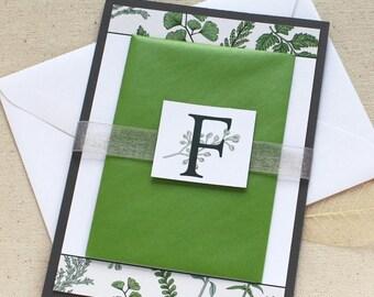 Greenery Wedding Invitation  |  Fern Wedding Invitation  |  Leaf Invitation  |  Garden Wedding