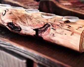 Aspen Log Candle Holder  Rustic Candleholder