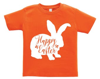 Happy Easter White Bunny Design. Easter outfit. / Boys / Girls / Infant / Toddler / Youth sizes