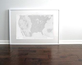 United States Nautical Chart Map 1957 Light Grey DIGITAL PRINTABLE Download 20 x 30, Map Art Prints, Printable Art, Chart Maps, Push Pin Map