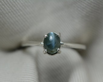 Alexandrite Ring, Certified Alexandrite Solitaire, 1.01 Carats Color Change Genuine Natural Real Alexandrite June Birthstone Jewelry