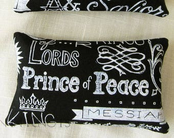 Prince of Peace Tissue Holder for Handbag or Backpack - Confirmation Gift, Jesus Black and White Pocket Tissue Cover, Christian Typography