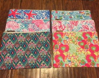 ZIPPER POUCH ~ Lilly Pulitzer inspired prints Makeup Cosmetic Accessory Bag