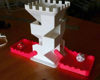Folding Dice Tower / dice tower / dice roller / dice masters / dice randomizer / dice rolling / dice shaker / dice game