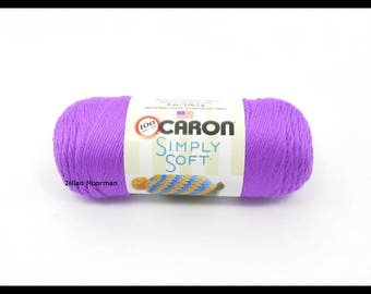 Caron Simply Soft Yarn, Grape, 6oz